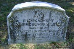 Minnie Melissa <i>Haywood</i> Bagley