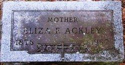 Eliza F Ackley