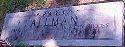 Dorothy <i>Rhodes</i> Allman