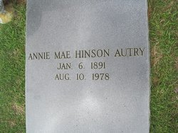 Annie Mae <i>Hinson</i> Autry