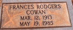 Frances <i>Rodgers</i> Cowan