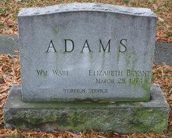 Elizabeth Chalmers <i>Bryant</i> Adams