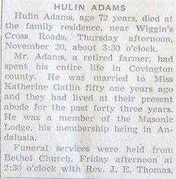 Hulin & Catherine L. Adams