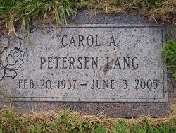 Carol A. <i>Petersen</i> Lang