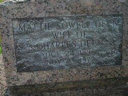 Mattie <i>Sowell</i> Deen