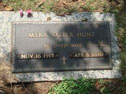 Myra <i>Ozier</i> Hunt