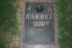 Ruby Faye <i>Cunningham</i> Barbee