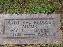 Ruth Mae <i>Rhodes</i> Adams