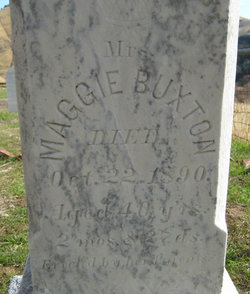 Maggie <i>Jones</i> Buxton