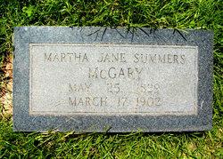 Martha Jane <i>Summers</i> McGary