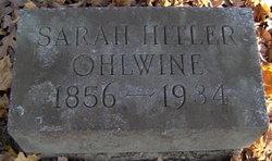 Sarah <i>Hitler</i> Ohlwine