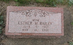 Esther M Bailey