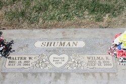 Walter W Poppa Wally Shuman