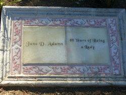 June D Adams