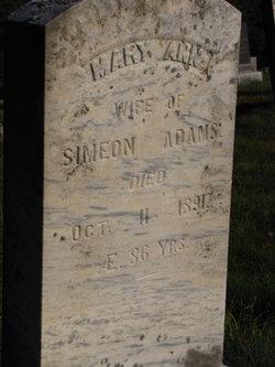 Mary Ann <i>Sargeant</i> Adams