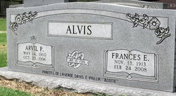 Frances Emma <i>Washam</i> Alvis