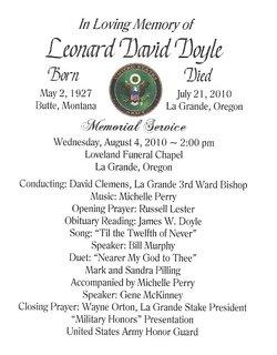 Leonard David Len Doyle