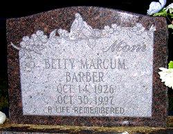 Betty Jean <i>Marcum</i> Barber