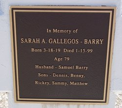 Sarah A. <i>Gallegos</i> Barry