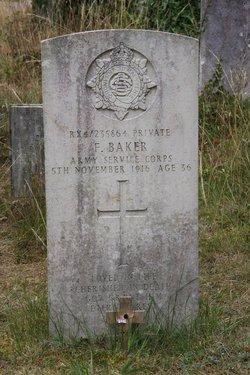 Pvt Frederick Baker