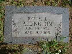 Betty Jean <i>Firth</i> Allington