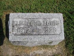 Elizabeth Lizzie <i>Hicks</i> Bowes