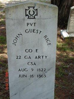 Pvt John Guess Rice