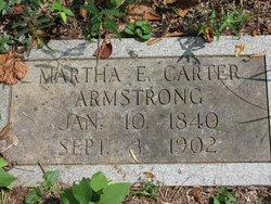 Martha E <i>Carter</i> Armstrong