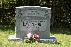 Martha Theodosia <i>Kennedy</i> Davenport