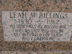 Leah M Billings