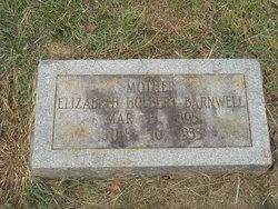 Elizabeth <i>Holbert</i> Barnwell