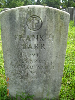 Pvt Frank H. Barr