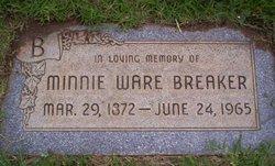 Minnie Lee <i>Ware</i> Breaker