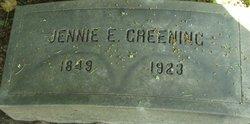Virginia Eliza Jennie <i>Greenleaf</i> Greening