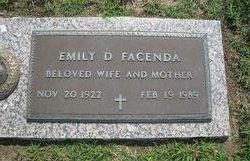 Emily D Facenda