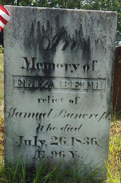 Elizabeth <i>Spelman</i> Bancroft