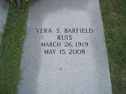 Vera S <i>Barfield</i> Ruis