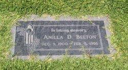 Anilla D Beeton