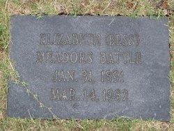 Elizabeth Bess <i>Meadors</i> Battle
