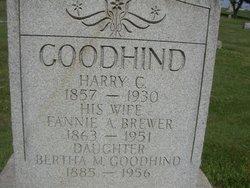 Fannie A. <i>Brewer</i> Goodhind