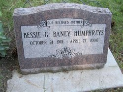 Bessie Golden <i>Baney</i> Humphreys