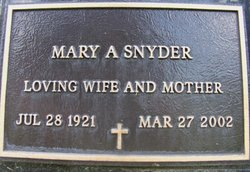 Mary A. Snyder