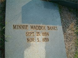 Minnie <i>Maddox</i> Banks