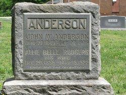 Allie Belle <i>Rodgers</i> Anderson