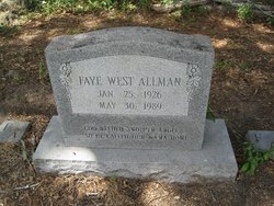 Faye <i>West</i> Allman