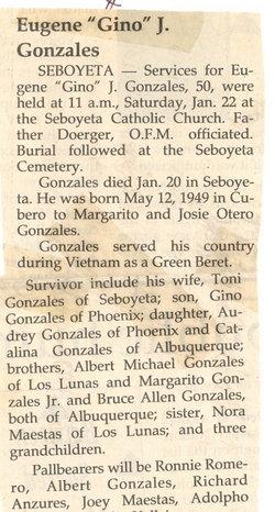 Eugene J. Gino Gonzales