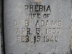 Phebia Ann <i>McLamb</i> Adams