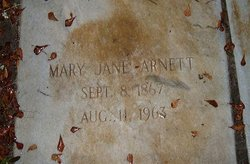 Mary Jane <i>Hatcher</i> Arnett