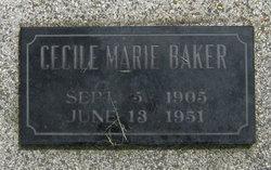 Cecile Marie <i>Daniel</i> Baker
