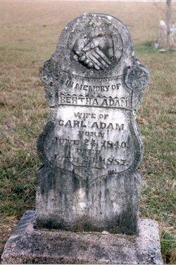 Auguste Bertha Elizabeth <i>Wendler</i> Adam